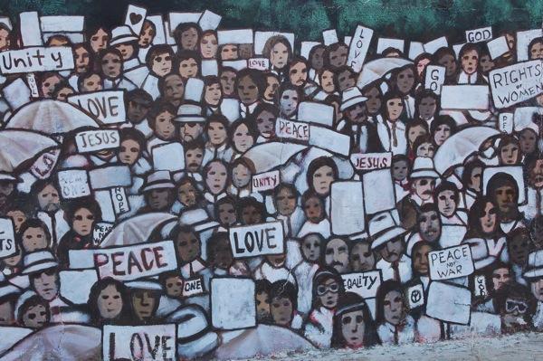 Mural on MLK Drive in San Antonio's Eastside. Photo by Rene Jaime Gonzalez.