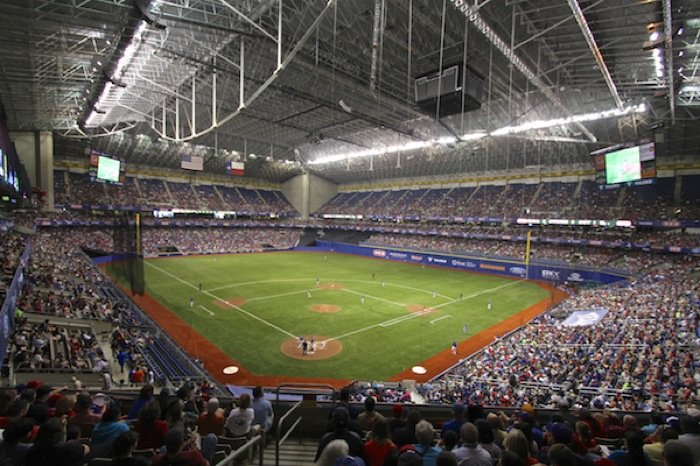 Big League Weekend transforms the Alamodome into a baseball field. Courtesy photo.