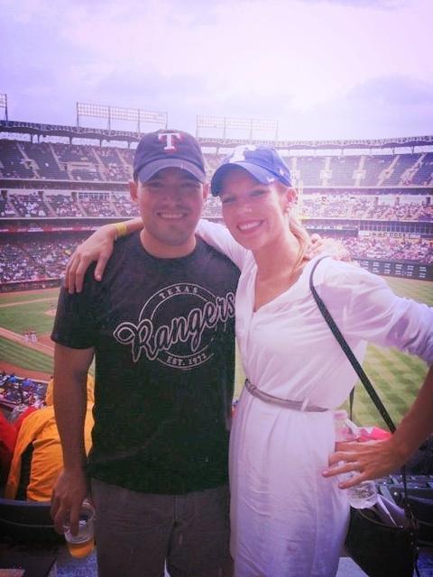 Carlos Garcia and his wife, Jill at a baseball game. Courtesy photo.