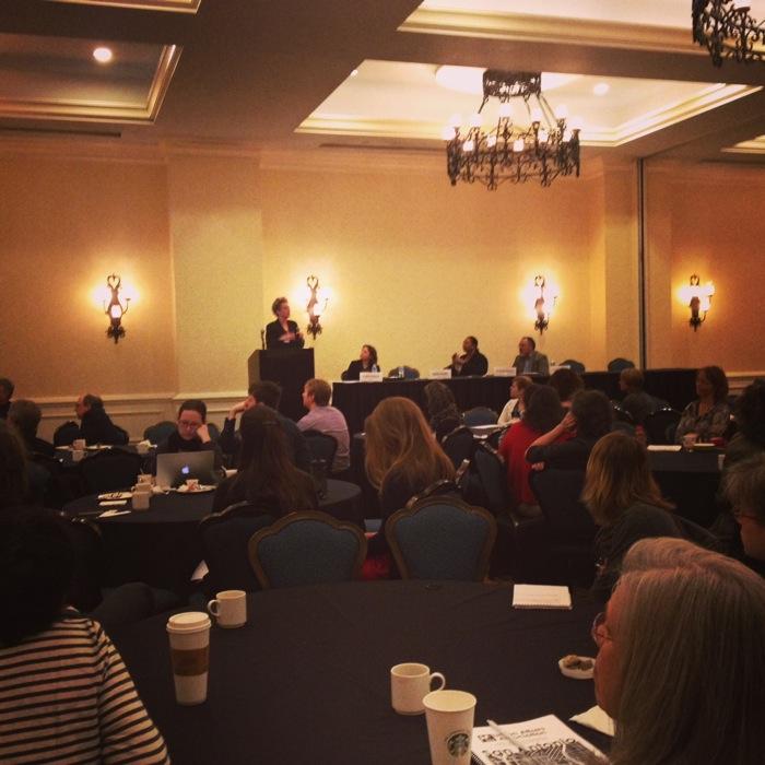 Christine Drennon of Trinity University presenting as recipient of Urban Affairs Association Activist-Scholar Award photo via Instagram