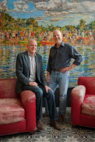David Lake (l) and Ted Flato