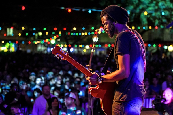 Gary Clark on stage at Maverick Music Festival 2013. Photo by Jeff Harris Photography.
