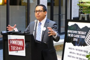Diego Bernal expresses his passion for initiatives such as Downtown Tuesday. Photo by Page Graham.