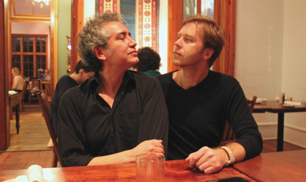 Reyes and Sanden gaze lovingly into one another's eyes like only bandmates can. Photo by Melanie Robinson.