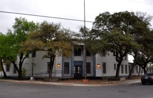 The former SAHA headquarters on the corner of Labor and Refugio Streets. Photo by Iris Dimmick.