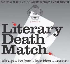 Literary death match flyer