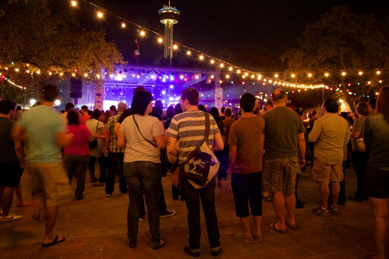 The 2014 Maverick Music Festival main stage in La Villita. Photo by Taylor Browning.