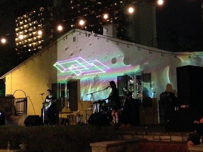 Boyfriend performs on Mondo Nation's stage in Juarez Plaza, La Villita Saturday night during the 2014 Maverick Music Festival. Photo by Taylor Browning.