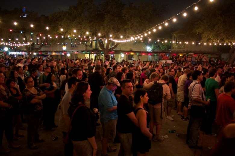 Concert goers gather at La Villita for the 2014 Maverick Music Festival. Photo by Taylor Browning.