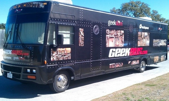 The Geekbus. Photo courtesy of Systemic.