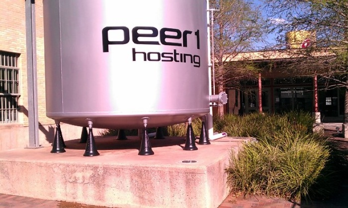 The Peer 1 tank at the Pearl Brewery. Photo by Andrew Moore.