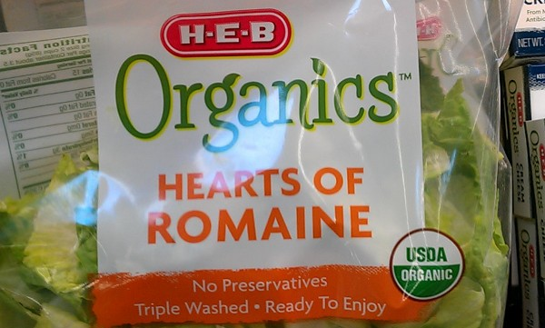 This USDA seal (lower right) certifies the product as organic. Photo by Andrew Moore.