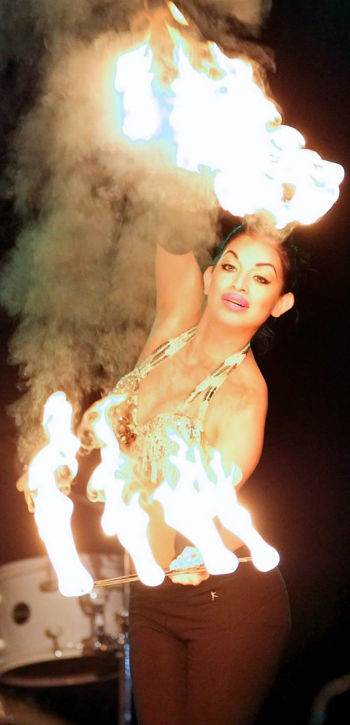 America Tru, belly and fire dancer, performs during RAW San Antonio in January. Photo by Pixels Photographer Antonio Morano.
