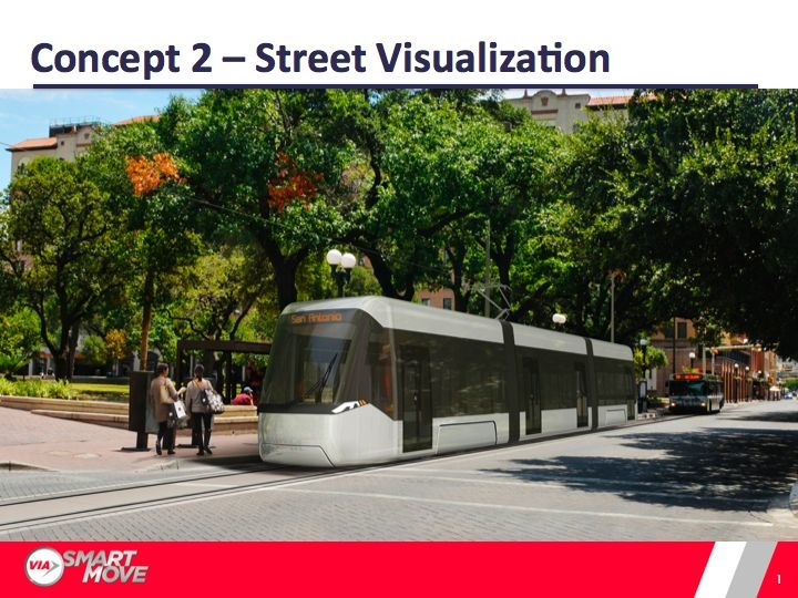 One of several design options VIA is considering for the Modern Streetcar Project. Download more here.