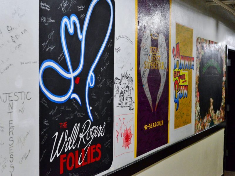 Backstage murals at The Majestic. Photo by Page Graham.