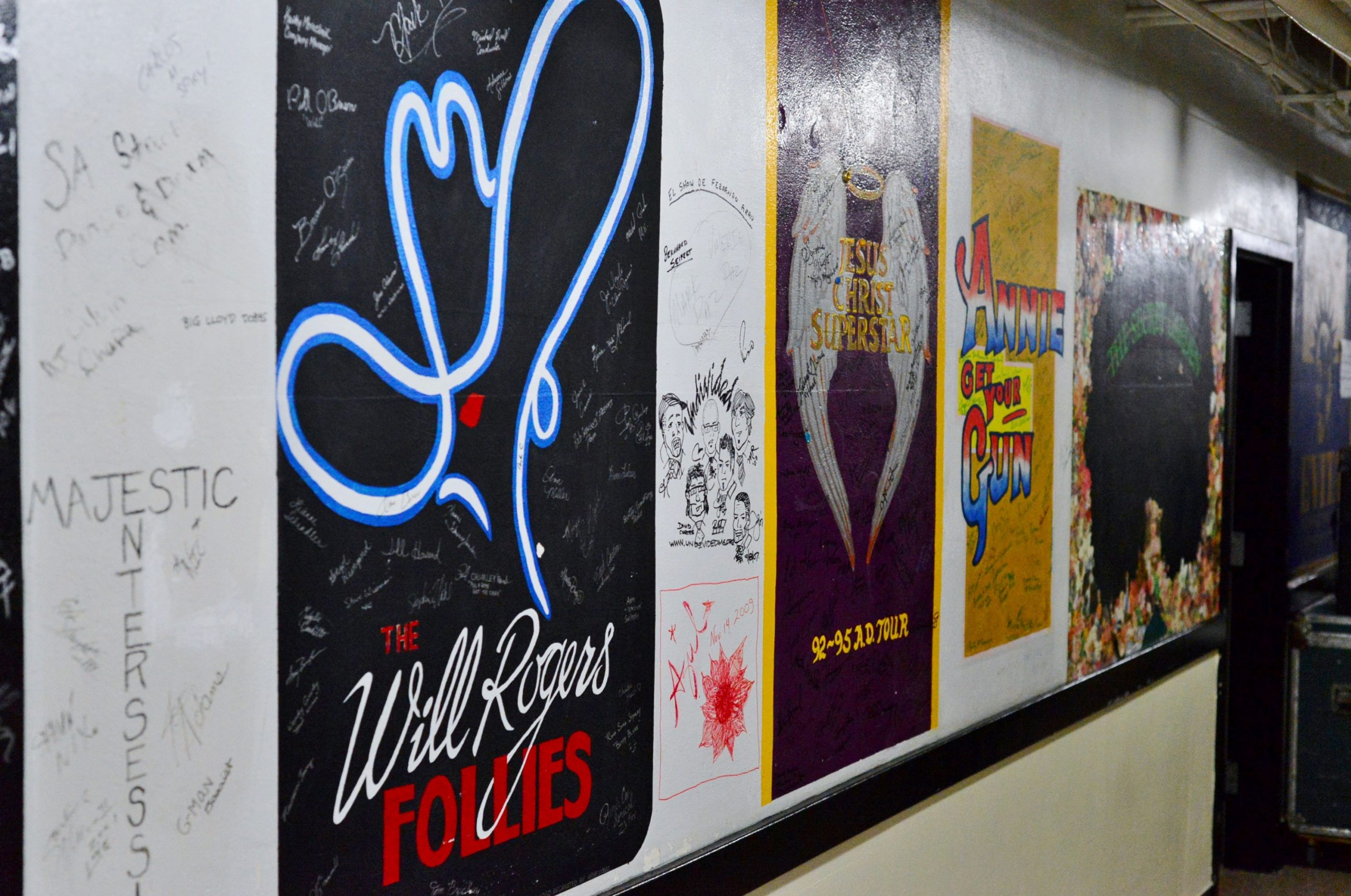 Backstage murals at The Majestic. Photo Courtesy of Page Graham.
