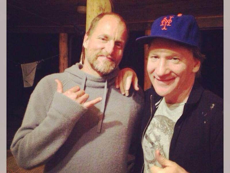 Woody Harrelson and Bill Maher during a recent trip to Hawaii via Maher's Official Facebook Page.