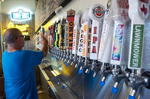 Craft brews on tap at The Cove, 606 W. Cypress Street. Photo courtesy of the The Cove.