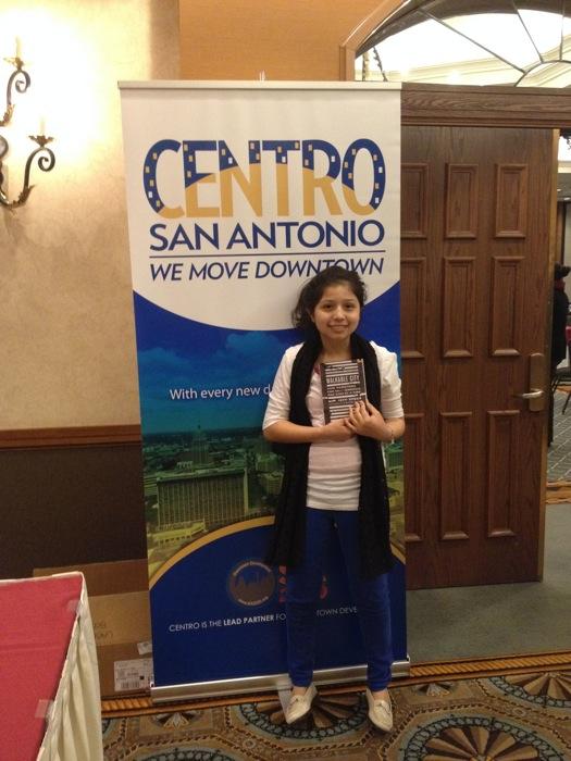 Estrella Hernandez at the Centro San Antonio luncheon. Photo by Eve Hernandez.