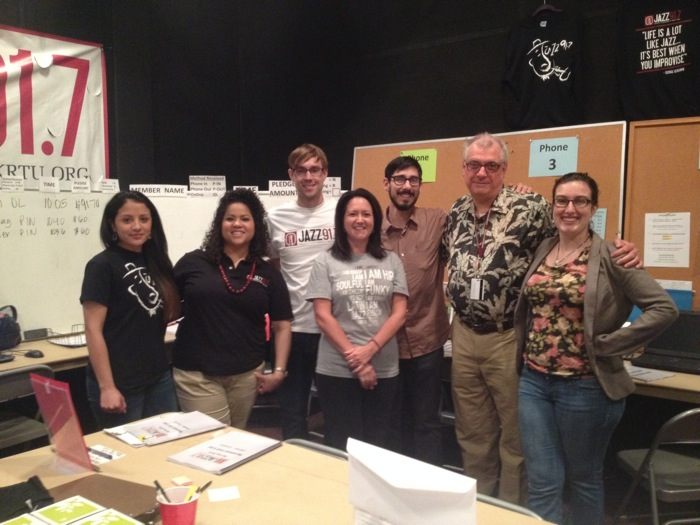 The KRTU Spring Fund Drive team. Photo courtesy of KRTU.