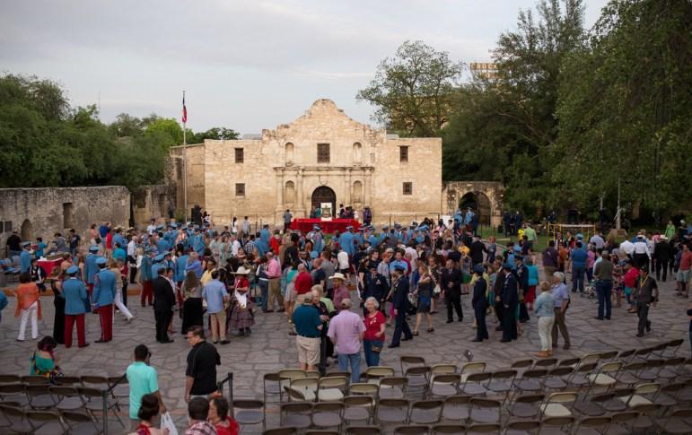 The King Antonio Investiture Ceremony at Alamo Plaza on Saturday April 19, 2014. Photo by Scott Ball.