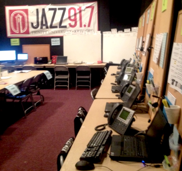 The 91.7 KRTU phones (and volunteers) are ready and waiting to accept donations from veteran listeners and newcomers. Photo courtesy of KRTU.