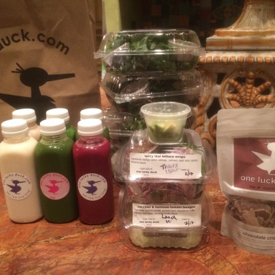 Three days worth of food for for the One Lucky Duck cleanse. Photo by Claudia Zapata.