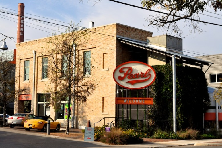 Pearl Brewery complex entrance. Photo by Iris Dimmick.