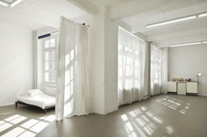 Artist studio and living space at Künstlerhaus Bethanien. Photo courtesy of Künstlerhaus Bethanien.