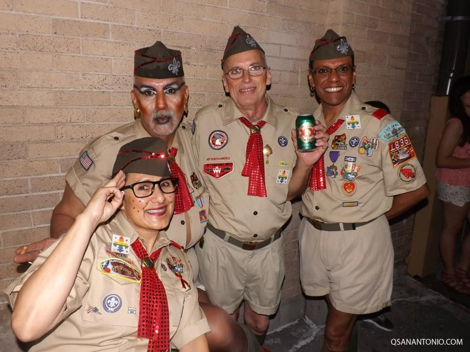 Cornyation Boy Scouts pose for a photo during Cornyation 2014. Photo courtesy of QSanAntonio.com.