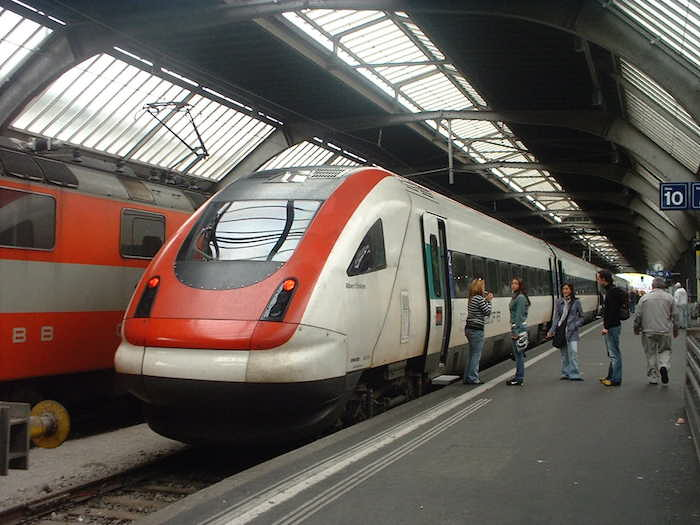 HIgh speed light rail in Zurich. Photo by Flickr user Matthew Black.