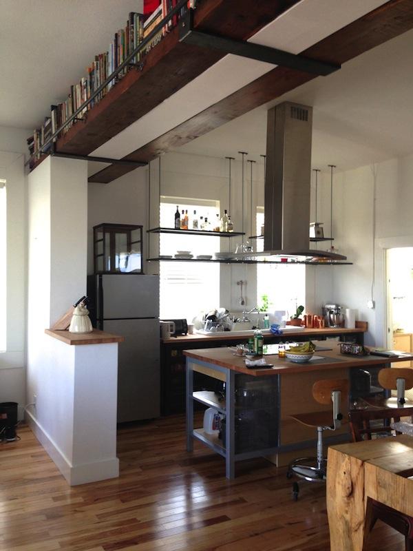 Vincent Valdez' elegantly simple kitchen. Photo by Taylor Browning.
