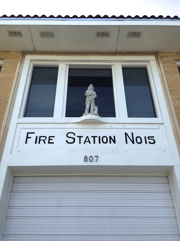 Fire Station #15, studio and home of San Antonio artist Vincent Valdez. Photo by Taylor Browning.