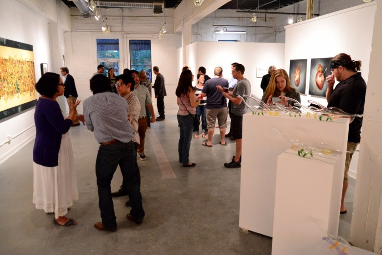 Justin Parr's Flight Gallery now at Blue Star Arts Complex. Photo by Page Graham.