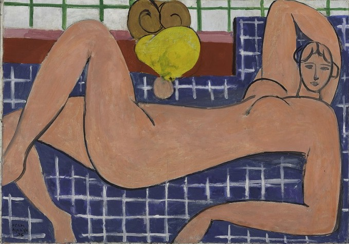 Henri Matisse (French, 1869-1954). Large Reclining Nude, 1935. Oil on canvas; h. 26 1/8 in. (66.4 cm), w. 36 3/4 in. (93.3 cm). The Baltimore Museum of Art: The Cone Collection, formed by Dr. Claribel Cone and Miss Etta Cone of Baltimore, Maryland, BMA 1950.258 Photography by Mitro Hood. Image courtesy of San Antonio Museum of Art. © 2014 Succession H. Matisse / Artists Rights Society (ARS), New York.