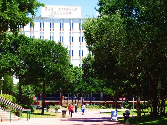 San Antonio College campus. Photo by Miles Terracina.