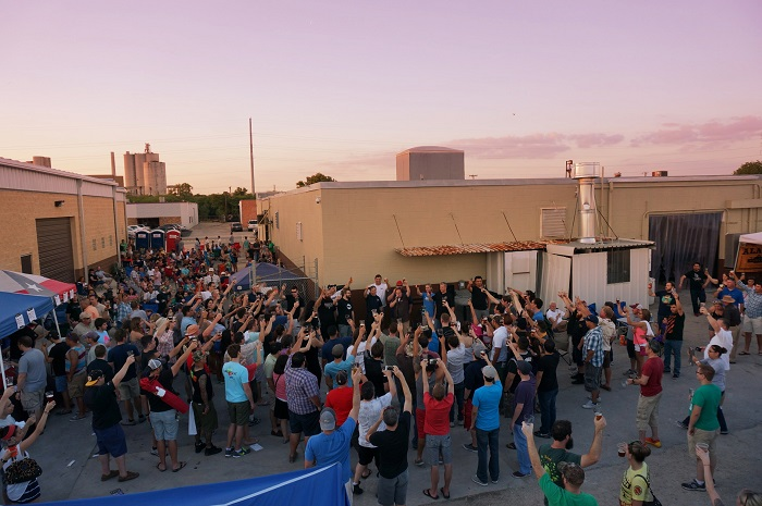 San Antonio Beer Week opening ceremonies at Ranger Creek Brewery. Photo by Jeremy Karnes.