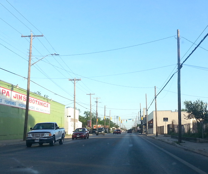 Looking south on South Flores Street. Photo by Iris Dimmick.