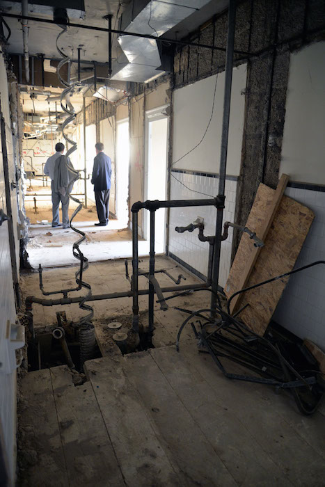 Rooms at the St. Anthony Hotel are being completely gutted and renovated. The number of rooms has decreased from 352 to 277 since their individual size has increased. Photo by Annette Crawford.