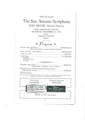 November 30, 1950 San Antonio Symphony program.