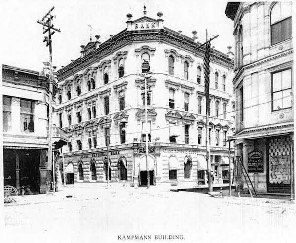 The Kampmann Building at West Commerce and Solidad Streets. Courtesy image.