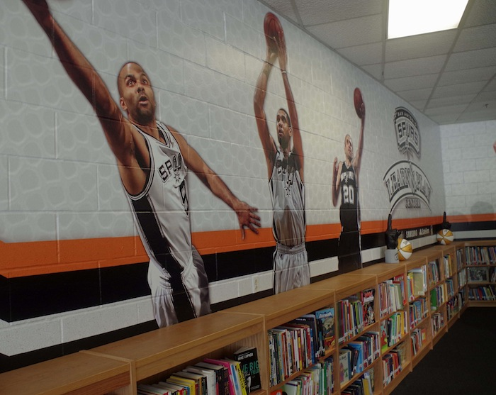 The NBA-sponsored Learn and Play Center at Bowden Elementary School on June 6, 2014. Photo by Juan Garcia.
