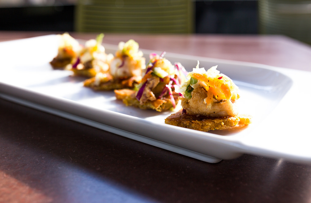 """Crisp Red Snapper """"Parguito Frito"""" at Nao. Photo by Scott Ball."""