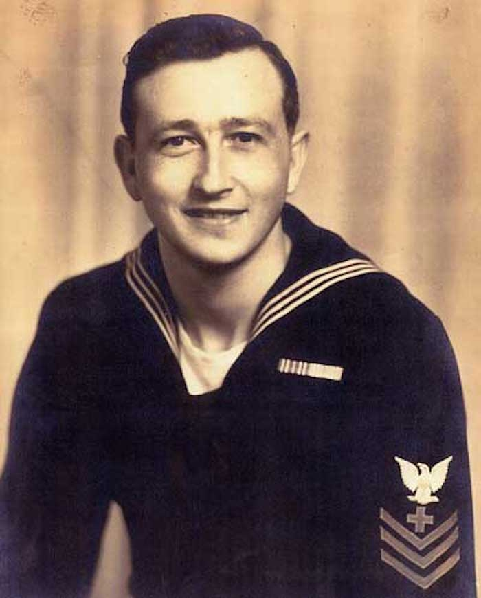 Author's father, Daniel H. Mathis, during WWII.