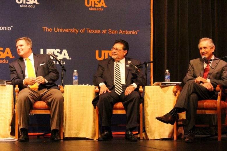 Panelists Jeff Judson, Alex Briseño and Heywood Sanders. Photo by Tami Kegley.