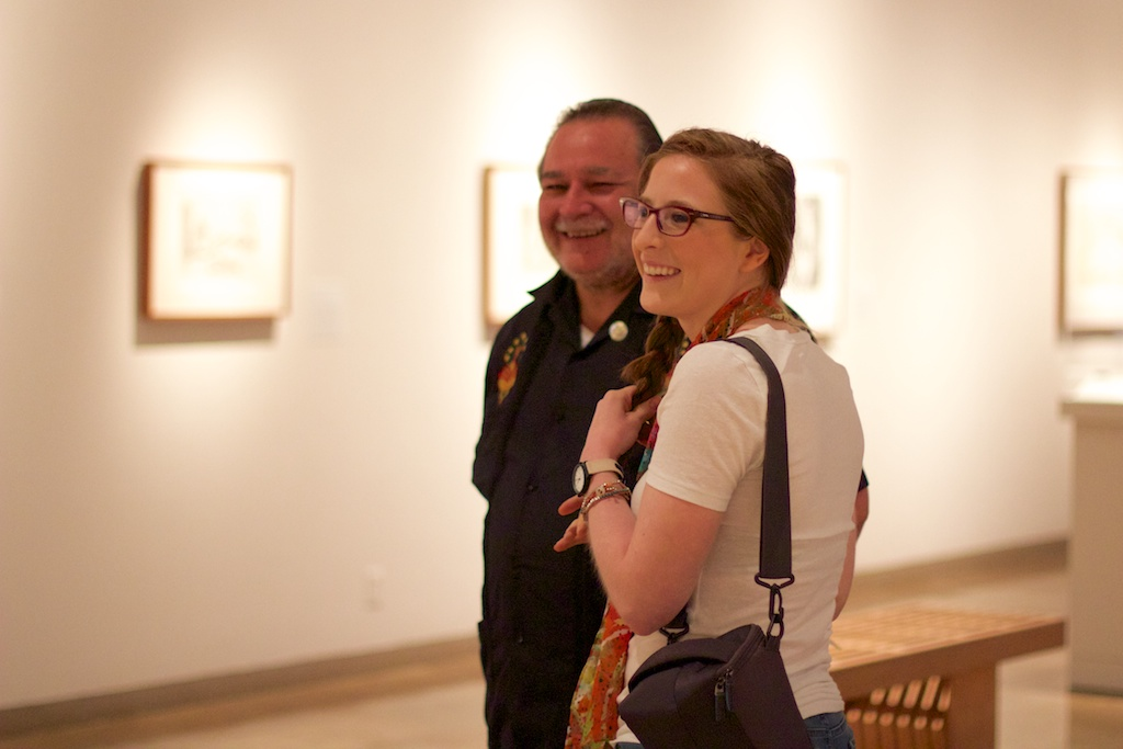 Luis and Elizabeth Haro at the grand opening of Matisse: Life in Color at SAMA. June 14, 2014. Photo by Taylor Browning.