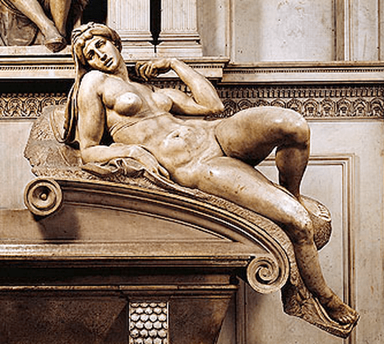 MIchelangelo, was a likely inspiration for Matisse's Large Reclining Nude. Image courtesy of San Antonio Museum of Art