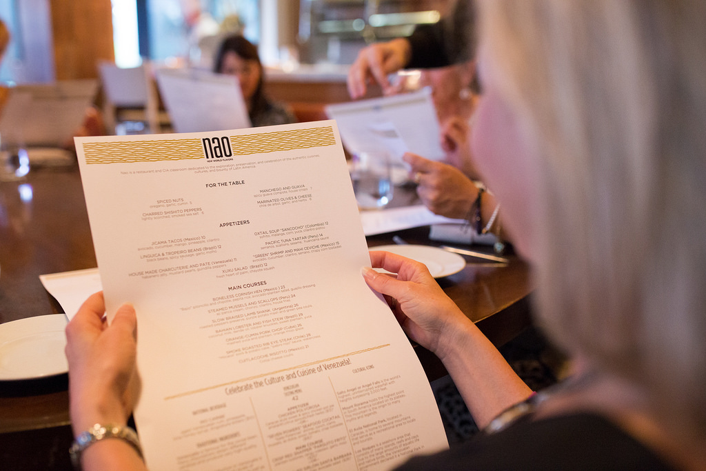 The ever-evolving menu at Nao. Photo by Scott Ball.