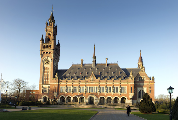 Outside view of the Peace Palace in The Hague (Netherlands), in February 2012. The Peace Palace has been the seat of the Court since 1946.  Photograph: CIJ-ICJ/UN-ONU, Capital Photos/Frank van Beek - Courtesy of the ICJ.