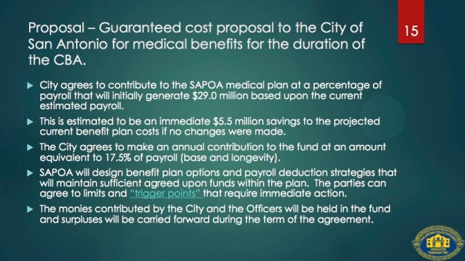 From the SAPOA Healthcare Proposal presented on July 12, 2014.